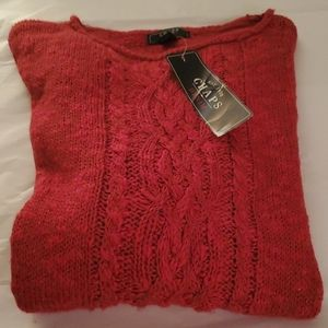 Chaps Red sweater size Large NWT